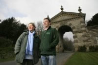 Charlie and Alisdair at the Fonthill Arch